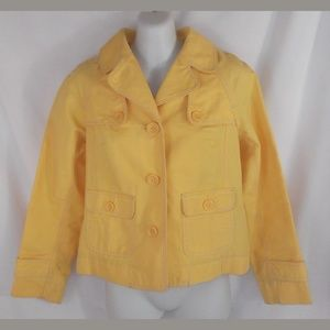 Ann Taylor Loft Yellow Button Front Pea Coat